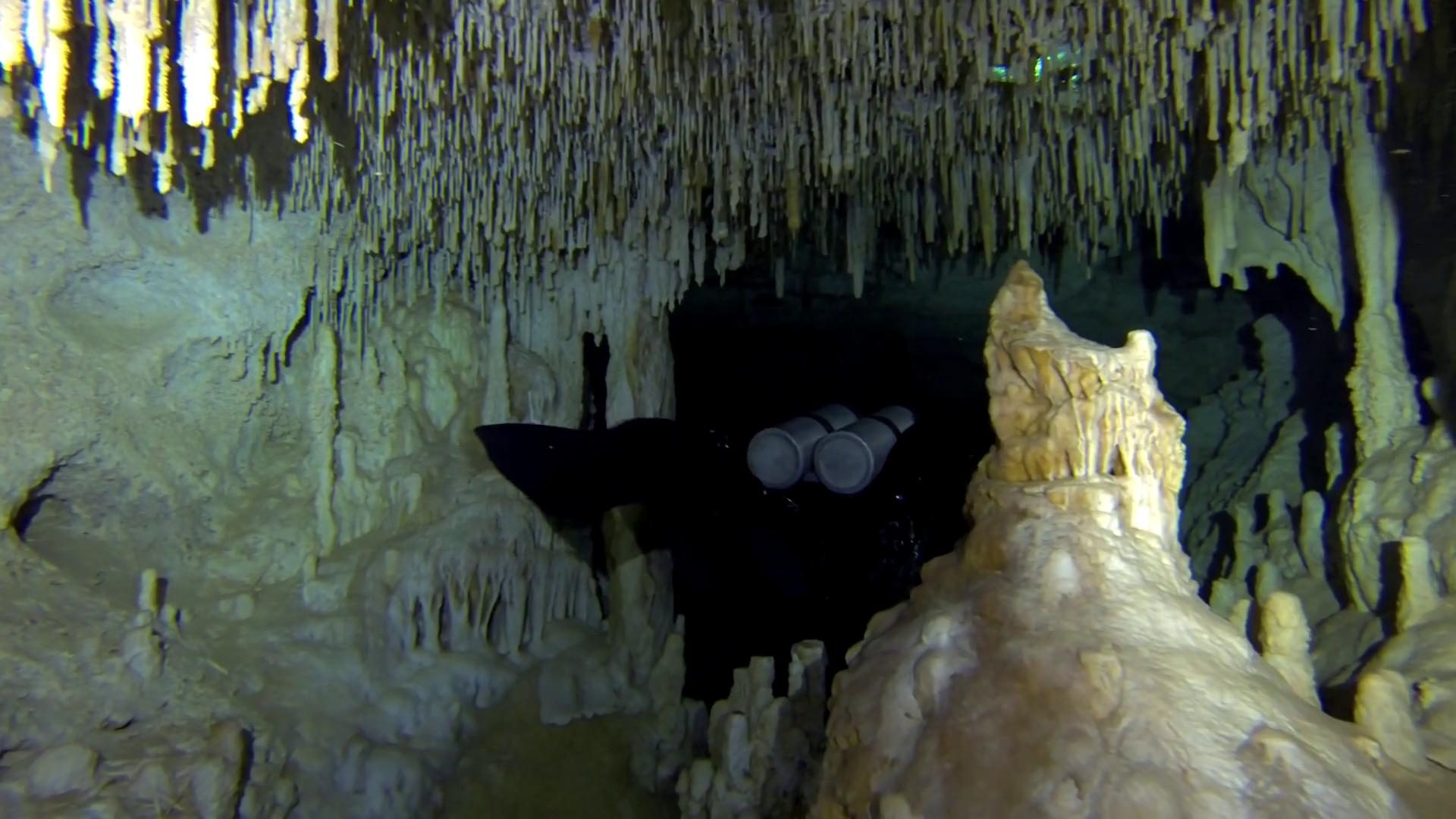 cave diving in playa del carmen, mexico